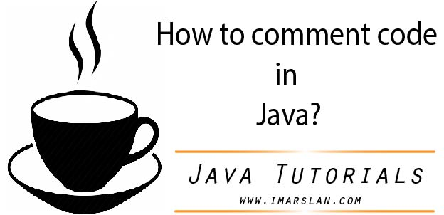 how to comment code in java